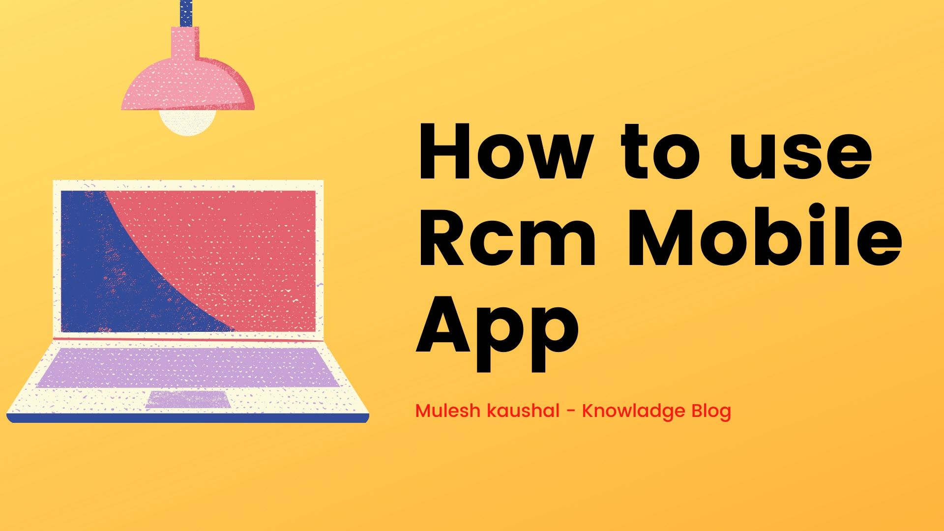 Rcm business mobile app
